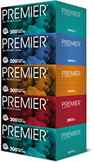 Premier Facial Tissue, 200ct, (Pack of 5)