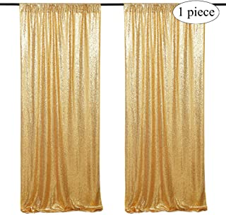 2x8FT Gold Sequin Curtain Wedding Backdrop Party Photography Background Glitter Photo Backdrop