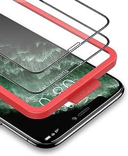 BANNIO Vetro Temperato per iPhone 11/iPhone XR,2 Pezzi Curva 3D Full Screen Pellicola Protettiva per iPhone 11/iPhone XR 6...