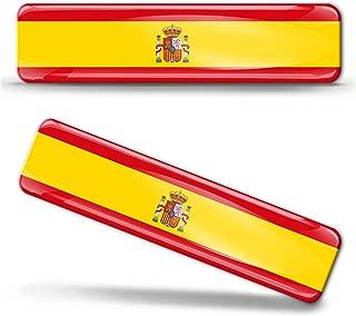Car Chrome Decals CBSHD201 Spain Flag Spanish Emblem Chrome Car Decal Sticker