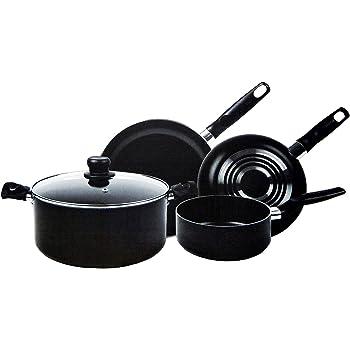 T-Fal Batería Inicia 5Pz Negro Set de Cocina