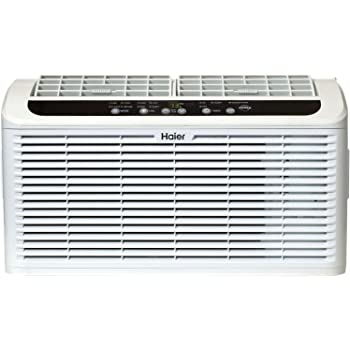 """Haier ESAQ406T 22"""" Window Air Conditioner Serenity Series with 6,000 BTU 115V W/ LED remote control in White"""