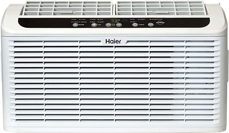 Haier ESAQ406T 22 Window Air Conditioner Serenity Series With 6 000 BTU 115V W LED Remote Control In White