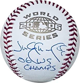 Jim Edmonds Autographed St Louis Cardinals 2006 World Series Signed Baseball TRISTAR COA With UV Display Case