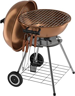 VENYN Original Kettle Premium Portable Charcoal Grill for Outdoor Grilling 18inch - Barbeque Grill and Smoker for Outdoor Pic