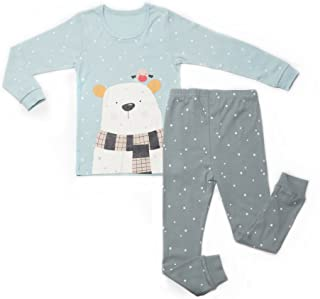 OllCHAENGi Toddler Kids Boys Girls Cotton Pajama Set Long Sleeve 10M-13Y Cats Eyes