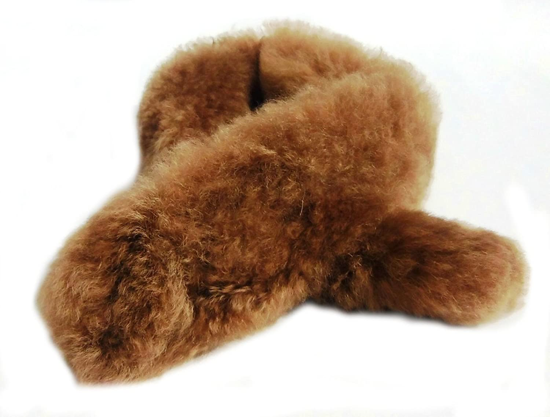 Alpakaandmore Women's Brown 100% Babyalpaca Fur Neckscarf (100 cm)