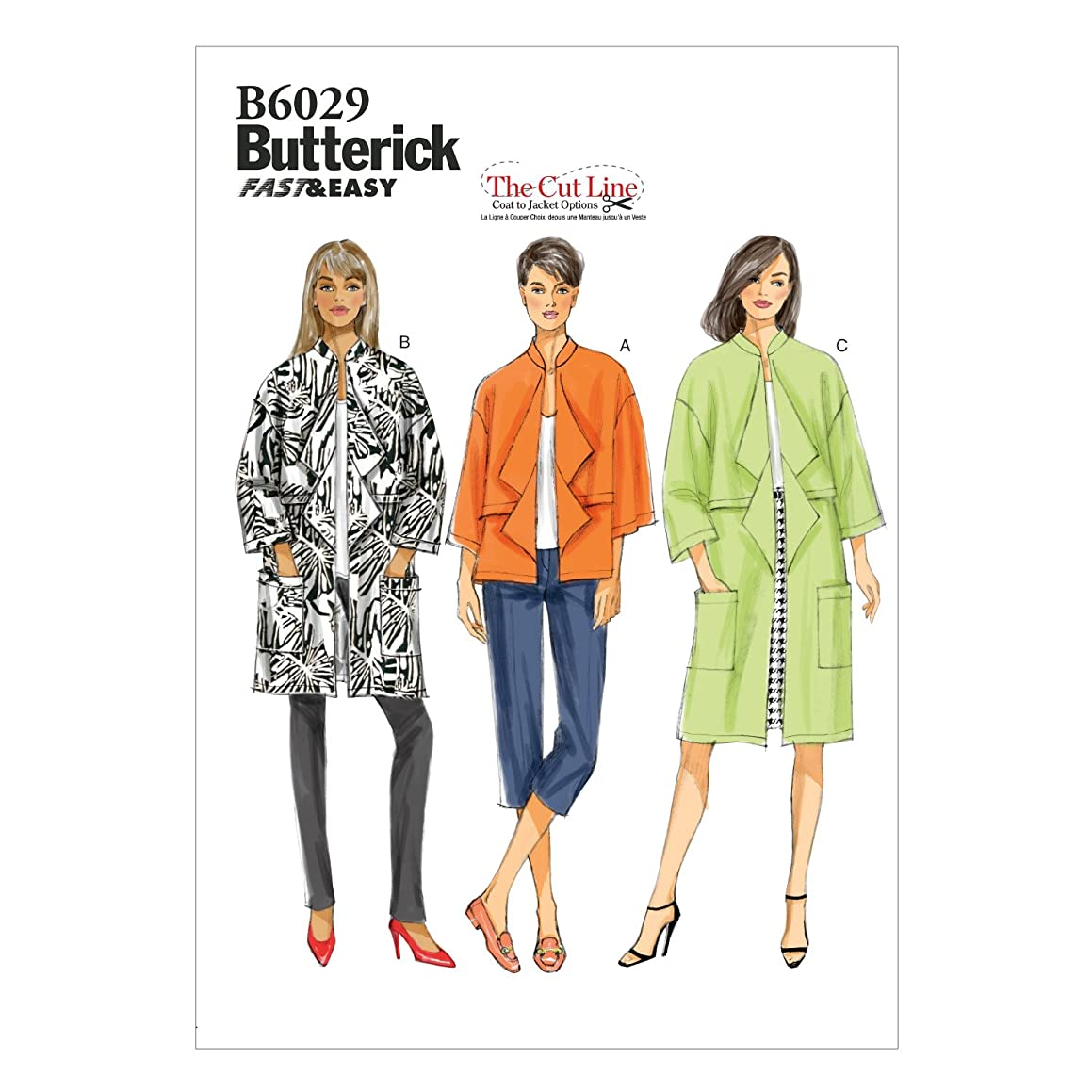 BUTTERICK PATTERNS B60290Y0 Misses' Jacket Sewing Template, Size Y (XSM-SML-MED)