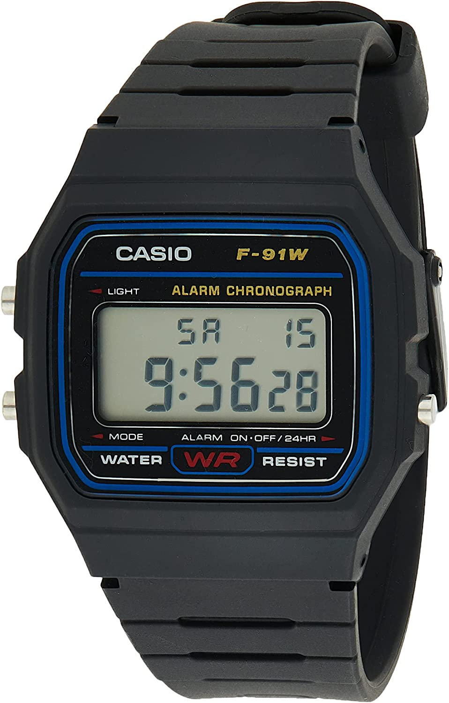 Casio Collection Unisex Digital Armbanduhr F-91W