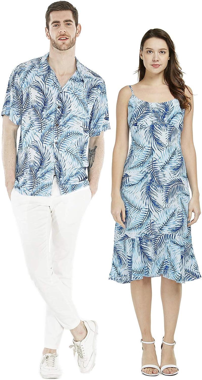 Couple Matching Hawaiian Luau Shirt Le Blue Cheap sale Simply Mermaid Popular overseas Dress