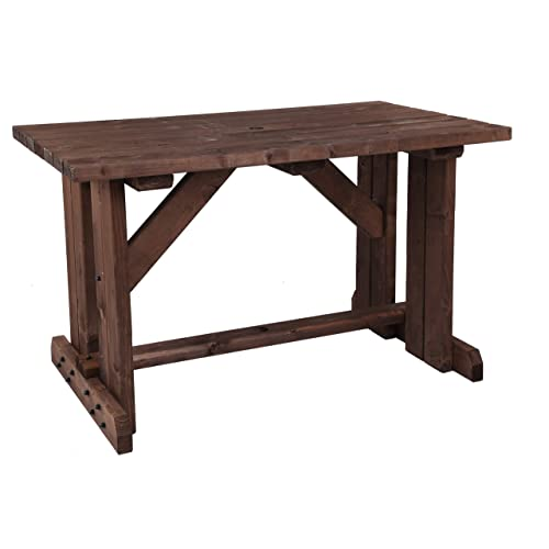 072d47f6b228 MC TIMBER PRODUCTS LTD 5ft Garden Table in Rustic Brown Stain - Garden  Furniture - BBQ