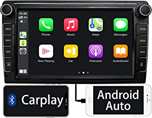 Binize 9 Inch Double Din Car Stereo Compatible with Apple Carplay Android Auto Touch Screen Car Radio Bluetooth Multimedia Player Support FM/AM/Backup Camera Input/SWC/iOS Mirror Link