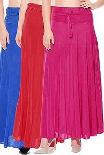 Mixcult Kombination med 3 st solida crepe-kjolar i full längd