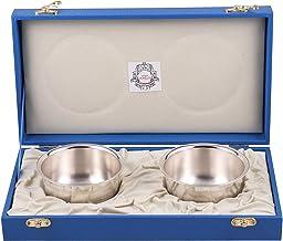 MSA JEWELS 92.5 Sterling Metal Pure Bowl Set Certified by BIS Hallmark (10 X 5 cm, 126 GM, Silver)