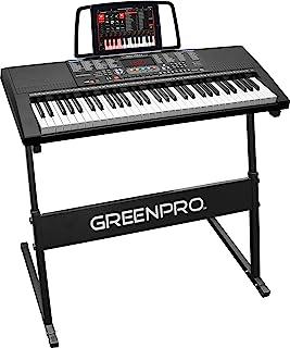 GreenPro 61 Key Portable Electronic Piano Keyboard LED Displ