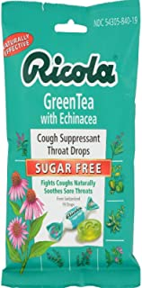 Ricola Green Tea with Echinacea Sugar Free 19 Drops