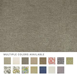 eLuxurySupply Fabric by The Yard - Polyester Blend Upholstery Sewing Fabrics with LiveSmart Technology - Hallandale Platinum Color