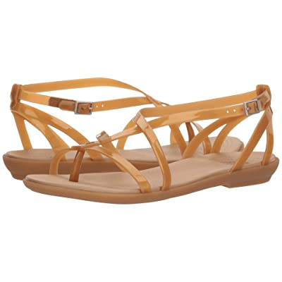 Crocs Isabella Gladiator Sandal (Dark Gold/Gold) Women