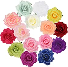 Cubaco Rose Hair Clips and Brooches for Women Girls, 15 Packs Vintage Flower Brooch Pin Boho Hair Clip