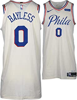 Jerryd Bayless Philadelphia 76ers Game-Used  0 Cream Jersey vs. Brooklyn  Nets on 2df69dc0e