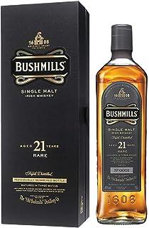 Bushmills 21 Jahre Years Old Single Malt Irish Whiskey 1 x 0,7 l - dreifach destillierter 100% Malt Whisky mit edler Geschenkverpackung