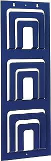 STEELMASTER Three-Tier, Six Pocket Magazine Rack, 31 x 10.56 x 1.2 Inches, Blue (264331108)