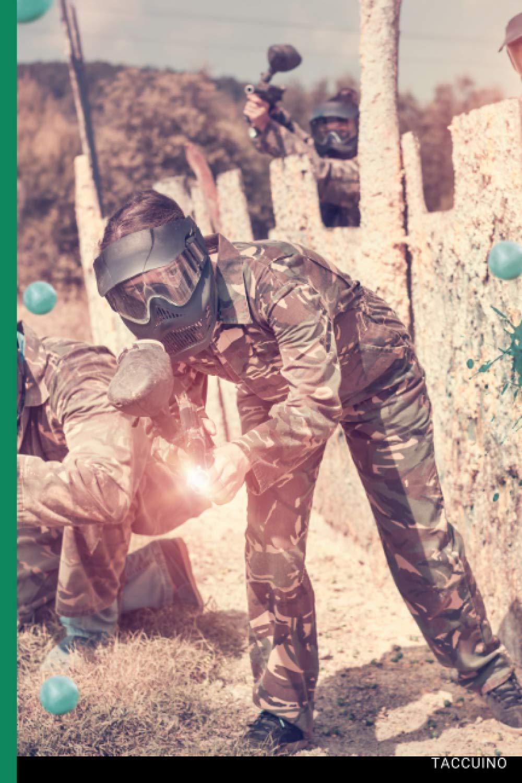 Taccuino Passione Sport: 120 pagine Paintball   Regalo per adulti, uomini, donne, adolescenti e bambini per Natale o compleanno (Italian Edition)