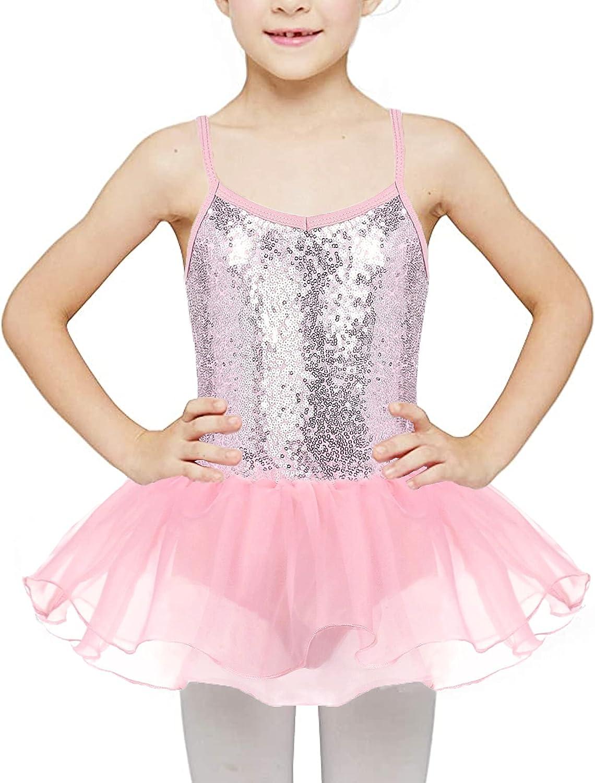 Kidsmian Kids Girls Strap Sequin Sparkly Ballet Skirted Leotard Shiny Dance Tutu Dress : Clothing, Shoes & Jewelry