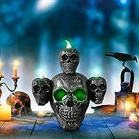 ASTVSHOP Skull Horror Candle Light Desktop Decoration Deals