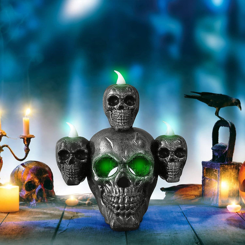 Skull Light Award Horror Candle Smoke Daily bargain sale LED Dec Desktop Sandalwood