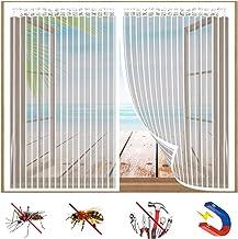 Magnetisch raamscherm, zelfklevend venster vliegennet, insectenscherm venster met magnetische sluiting, eenvoudig te insta...