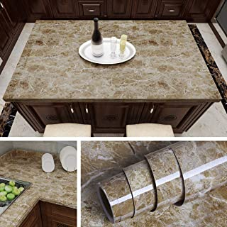 Livelynine Counter top Covers Peel and Stick Wallpaper Self Adhesive Instant Granite Marble Wall Paper Roll Kitchen Countertop Marble Adhesive Paper Dining Table Cover