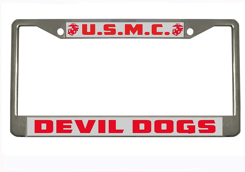BINGOUO U.S.M.C. 'Devil Limited Special Price Dogs' Military Chrome Metal trust Black Auto L