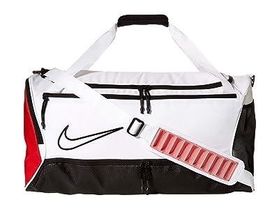 Nike Hoops Elite Duffel (White/University Red/Black) Duffel Bags
