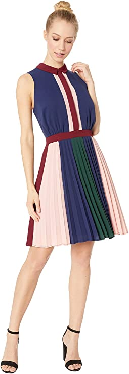 Nadya Woven Pleated Fit & Flare Dress