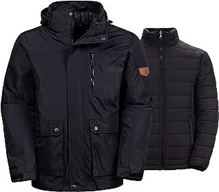 Wantdo Men's 3-in-1 Ski Jacket Interchange Snow Coat Waterproof Removable Liner