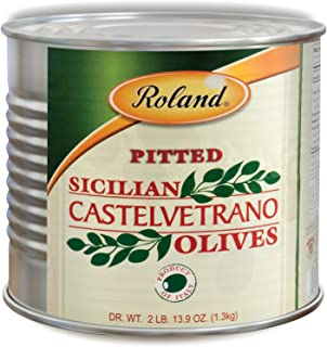 Roland Foods Castelvetrano Pitted Olives, Specialty Imported Food, 2 Lb 13.9 Oz Can