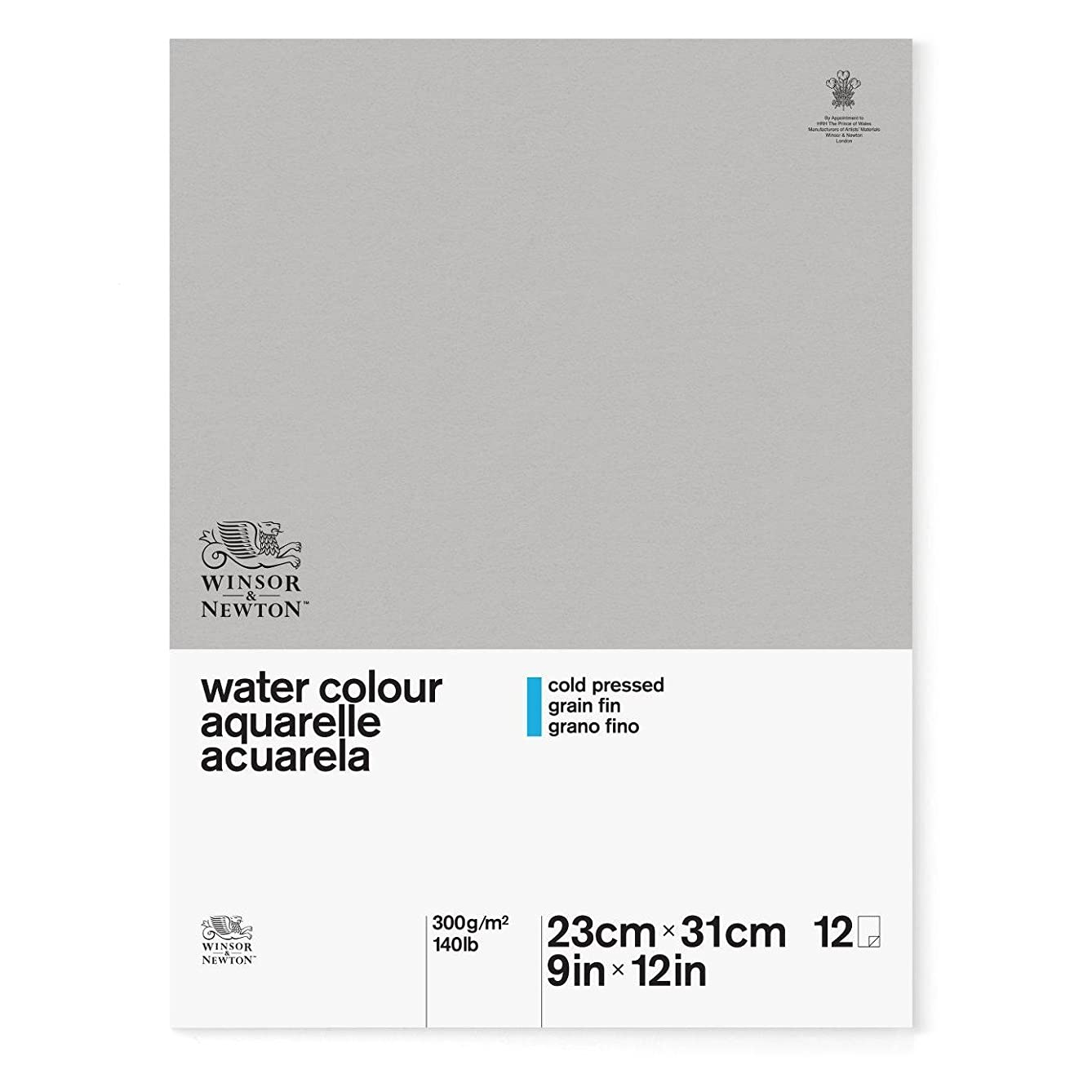 Winsor & Newton Classic Watercolor Paper Side Glued Pad, Cold Pressed 140lb, 9