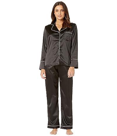 Coobie Undie Couture by Coobie Satin Pajama Set (Black) Women