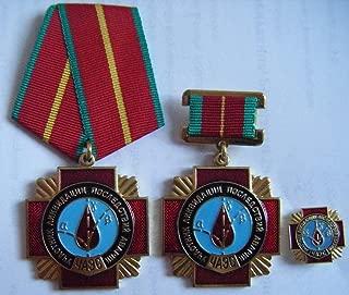 3original ussr soviet russian ukrainian chernobyl liquidator medals badge chernobil.prypiat