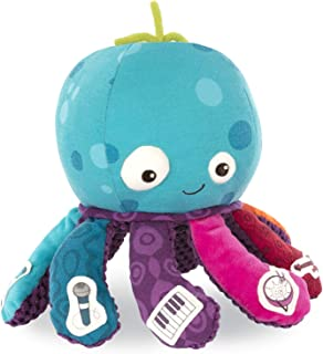 B. toys – Octopus Plush Toy – B. softies – Musical Stuffed Animal – Soft Baby Plush with 8 Instruments - Sensory Toys for ...