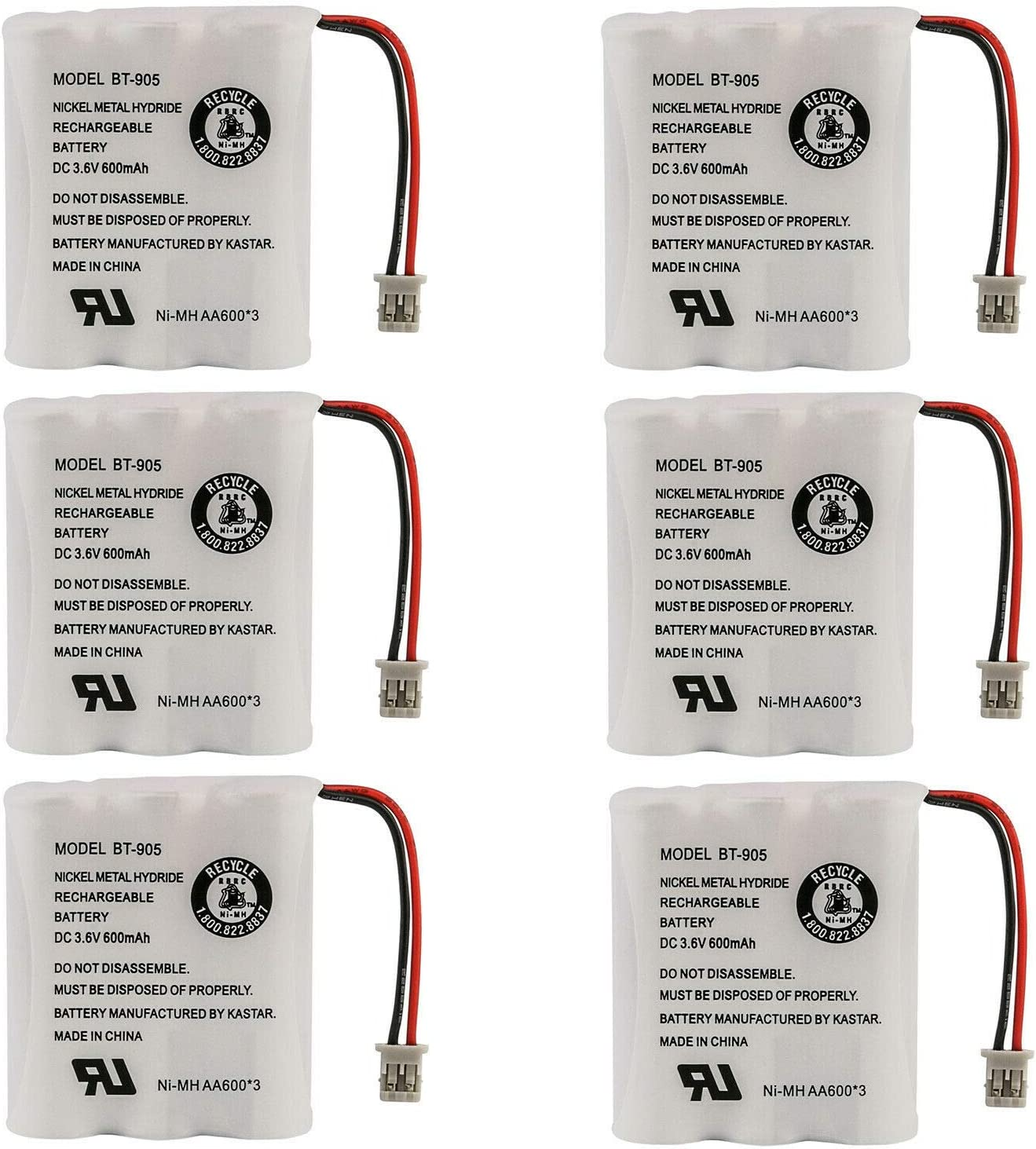 OFFicial site Kastar 6-Pack Battery Replacement for 2.4GHz Uniden Models Selling rankings Phone