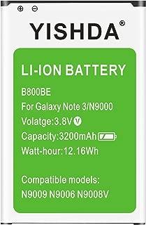 Galaxy Note 3 Battery, YISHDA 3200mAh Replacement Samsung Galaxy Note 3 Battery B800BU for Galaxy Note 3 N9000 N9005 N900A N900V N900P N900T | Samsung Galaxy Note 3 Spare Battery