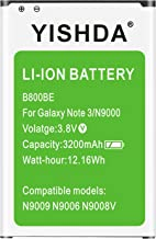 Galaxy Note 3 Battery, YISHDA 3200mAh Replacement Samsung Galaxy Note 3 Battery B800BU..