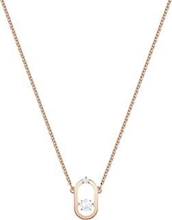 Swarovski Women's Rose-Gold Tone Plated White Crystal North Necklace 5468084