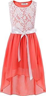 (イーエフイー)EFE 女の子 子供ドレス ジュニア フォーマル ワンピース レース リボン飾り 発表会 結婚式 5色 5-16歳