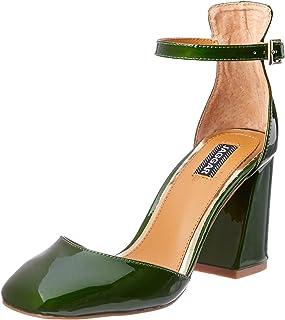 Jaggar Women's Tempo Patent Heel, Green (Emerald)