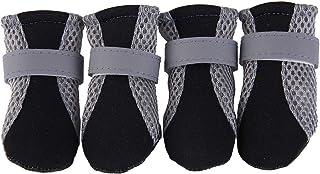 Meijin Chaussures pour animal domestique - Bottes de pluie imperméables à semelle souple - Couleur : noir - Taille : XL