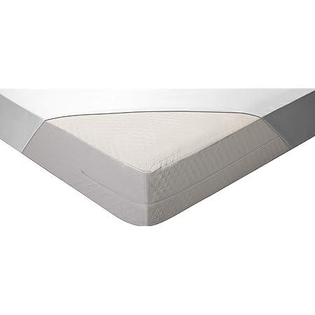 Coprimaterasso con cerniera maglia anti acaro traspirante Pikolin Home 105x190//200cm-Letto da 105