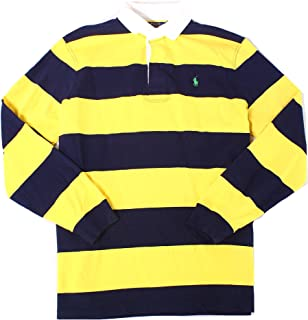 Polo Men's Iconic Cotton Long Sleeve Striped Rugby Shirt